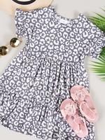 Tiered Animal Print Dress