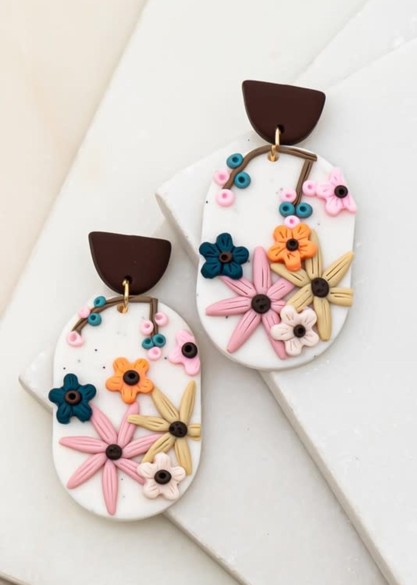 Polymer Clay Oval Earrings