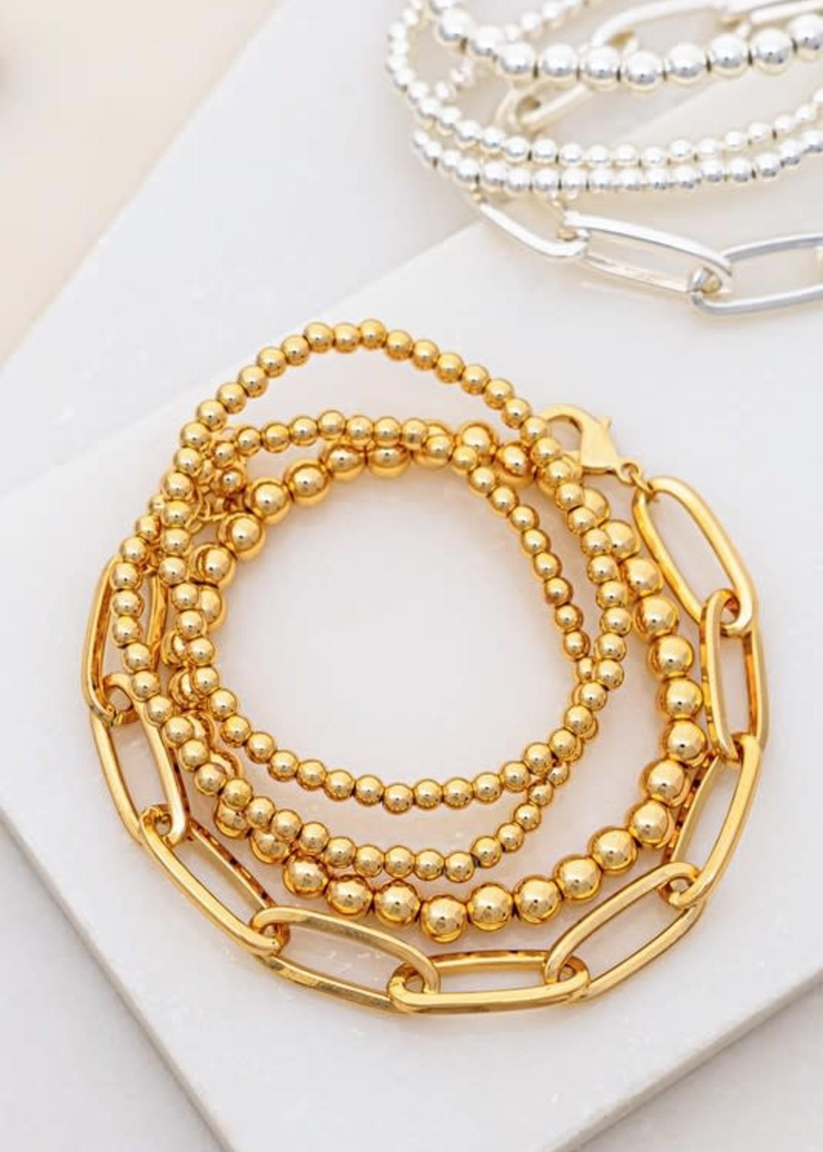 LA 3 Accessories Four Bracelet Set