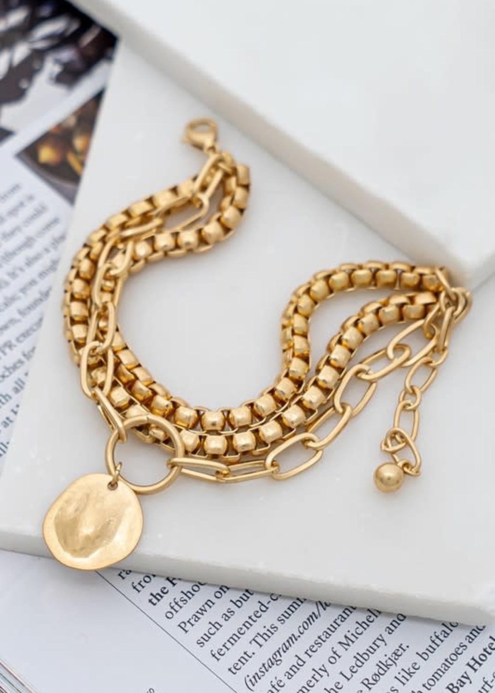 LA 3 Accessories Chunky Chain Bracelet Set