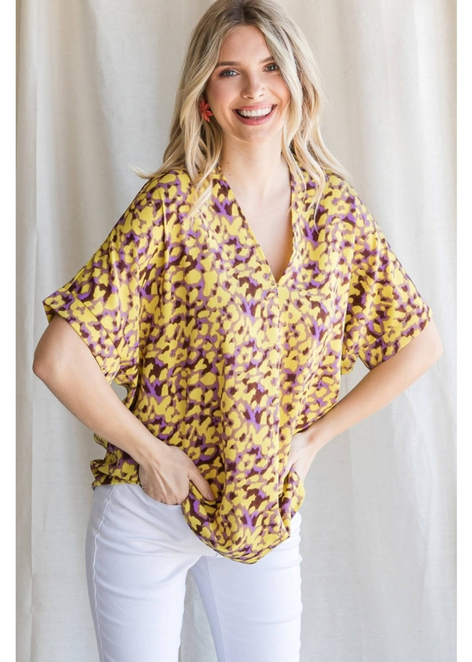Jodi FL Bearcat Leopard Top