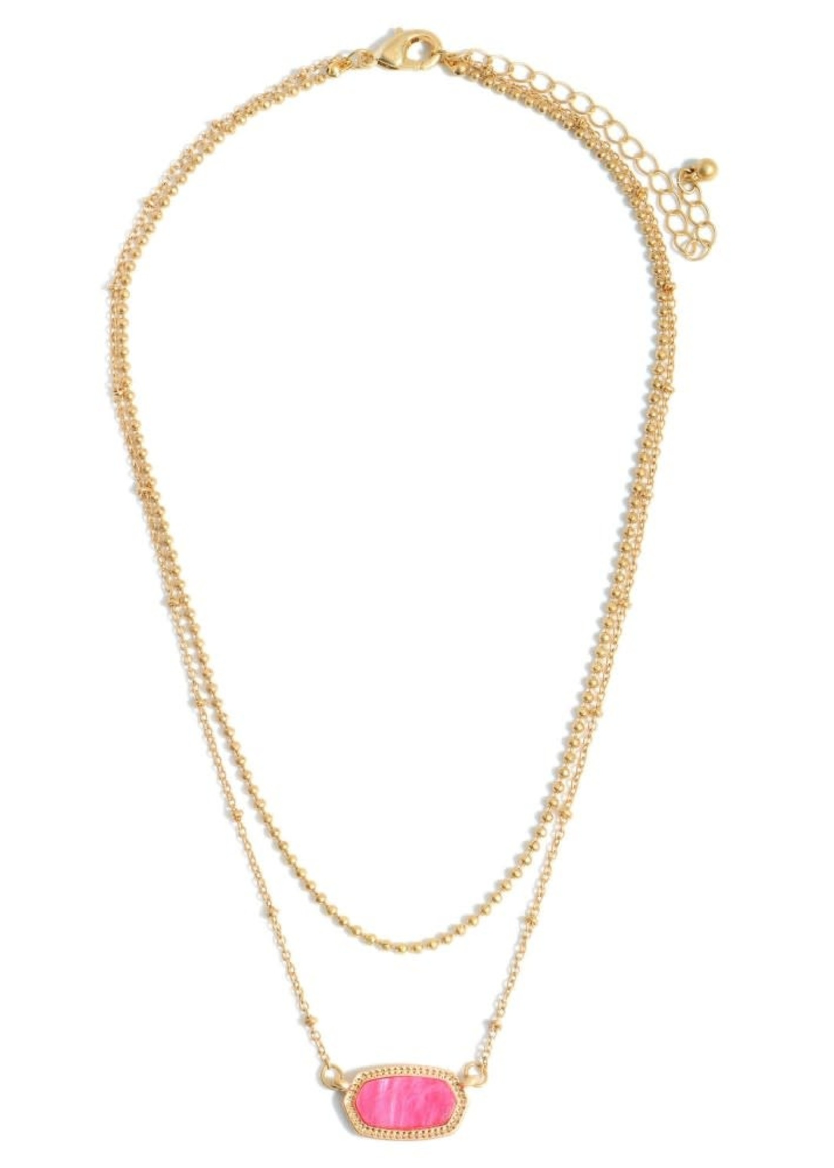 Pink Gold Layered Necklace