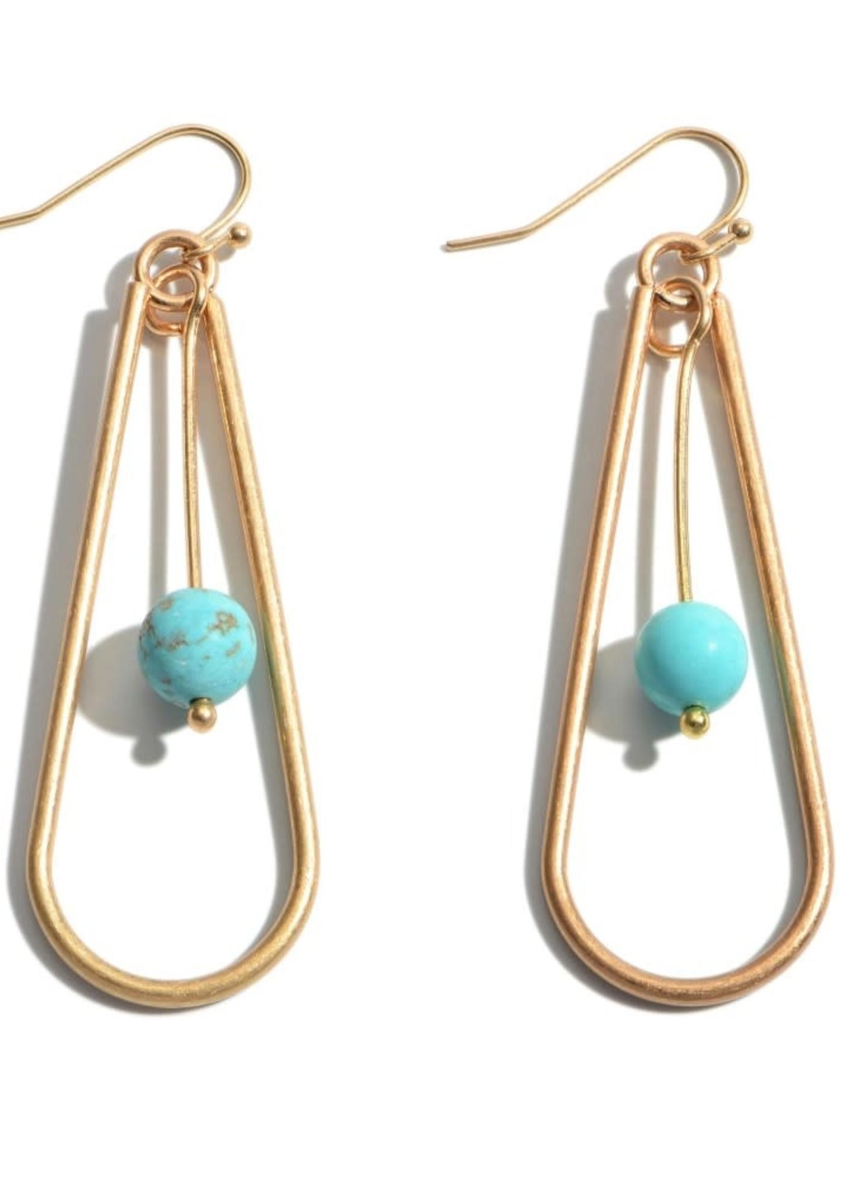 Turquoise Nested Teardrop Earrings