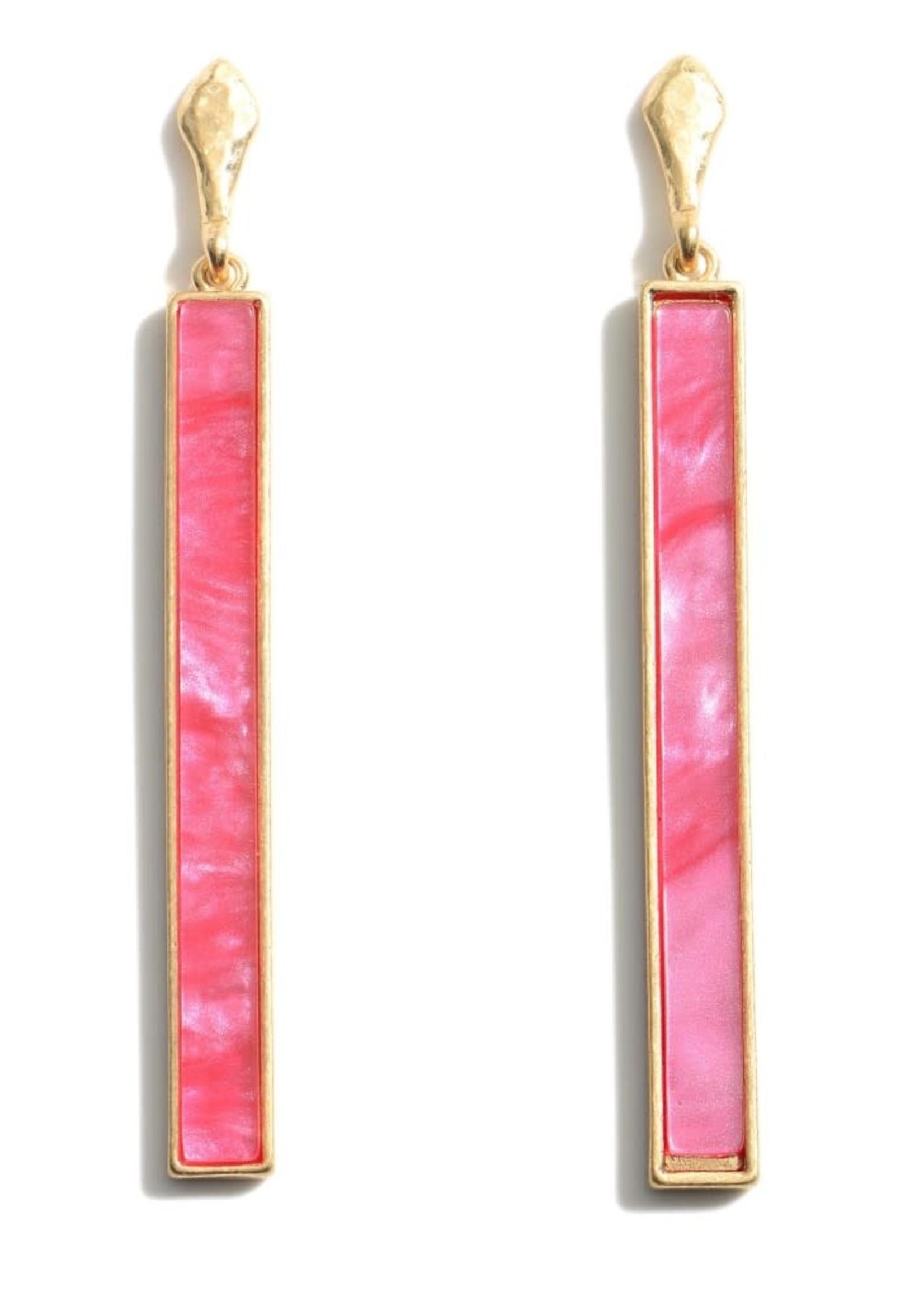 Moroccan Glass Stone Drop Earrings