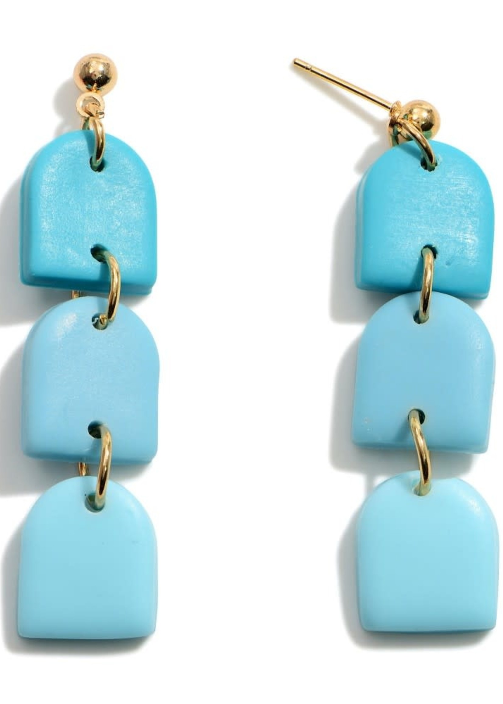 Ombre Polymer Clay Drop Earrings
