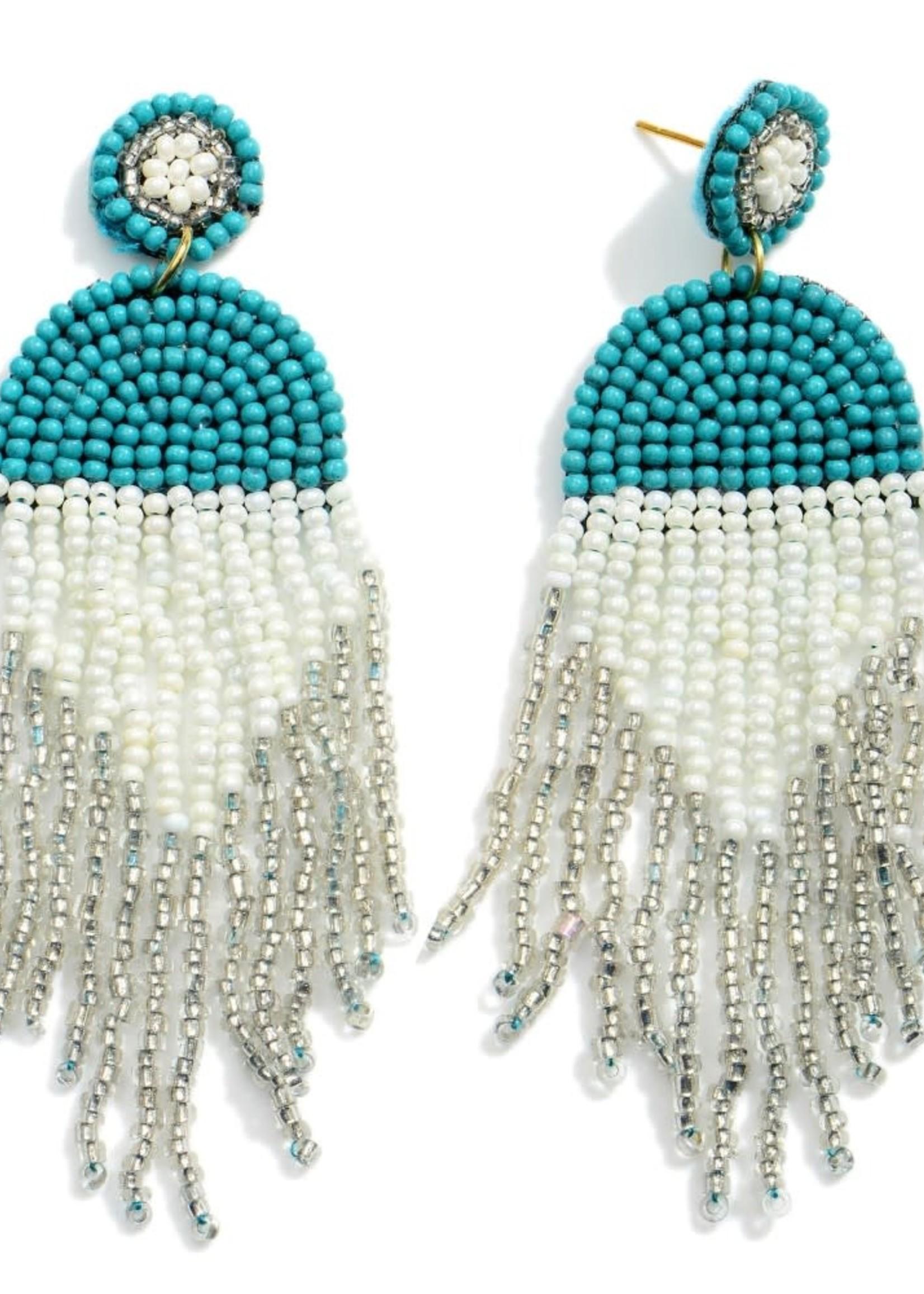 Turquoise Multicolor Beaded Earrings