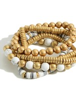 Heishi Bead Bracelet Stack