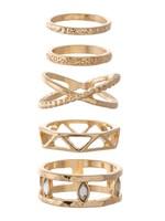 Boho Stacking Knuckle Ring Set