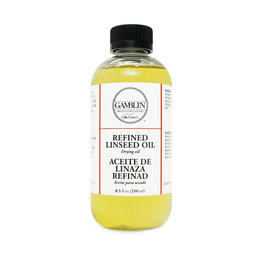 Gamblin Gamblin 8oz Refined Linseed Oil