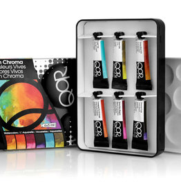 Golden QoR Watercolor Introductory 6-High Chroma Set