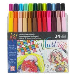 Sakura Koi Coloring Brush Set 24 Colors
