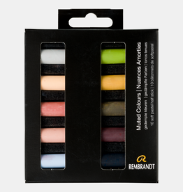 Royal Talens Rembrandt Soft Pastel 10 Half Stick Micro Set Muted Colours