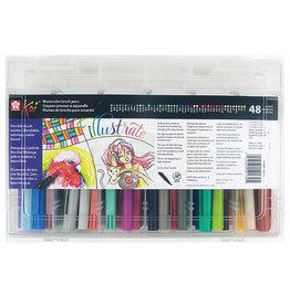 Sakura Koi Coloring Brush Set 48 Colors