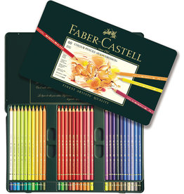 FABER-CASTELL Faber-Castel 110060 Polychromos Colored Pencil Set In Metal Tin, 60 Pieces