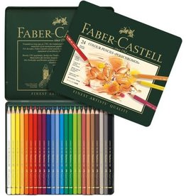 FABER-CASTELL Faber-Castell Polychromos Colored Pencil Tin Set, 24-Colors