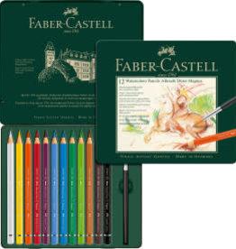 FABER-CASTELL Faber Castell 12 Watercolor Pencils in Tin Box Albrecht Durer Magnus.