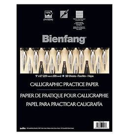 """Bienfang Bienfang #206 Calligraphy Practice Paper Pad, White, Lined, 9"""" X 12"""", 50 sht, 28 gsm"""