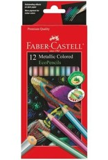 FABER-CASTELL Faber-Castell 12ct Metallic Colored EcoPencils