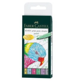 FABER-CASTELL Faber-Castell 6ct Pastel brush pens