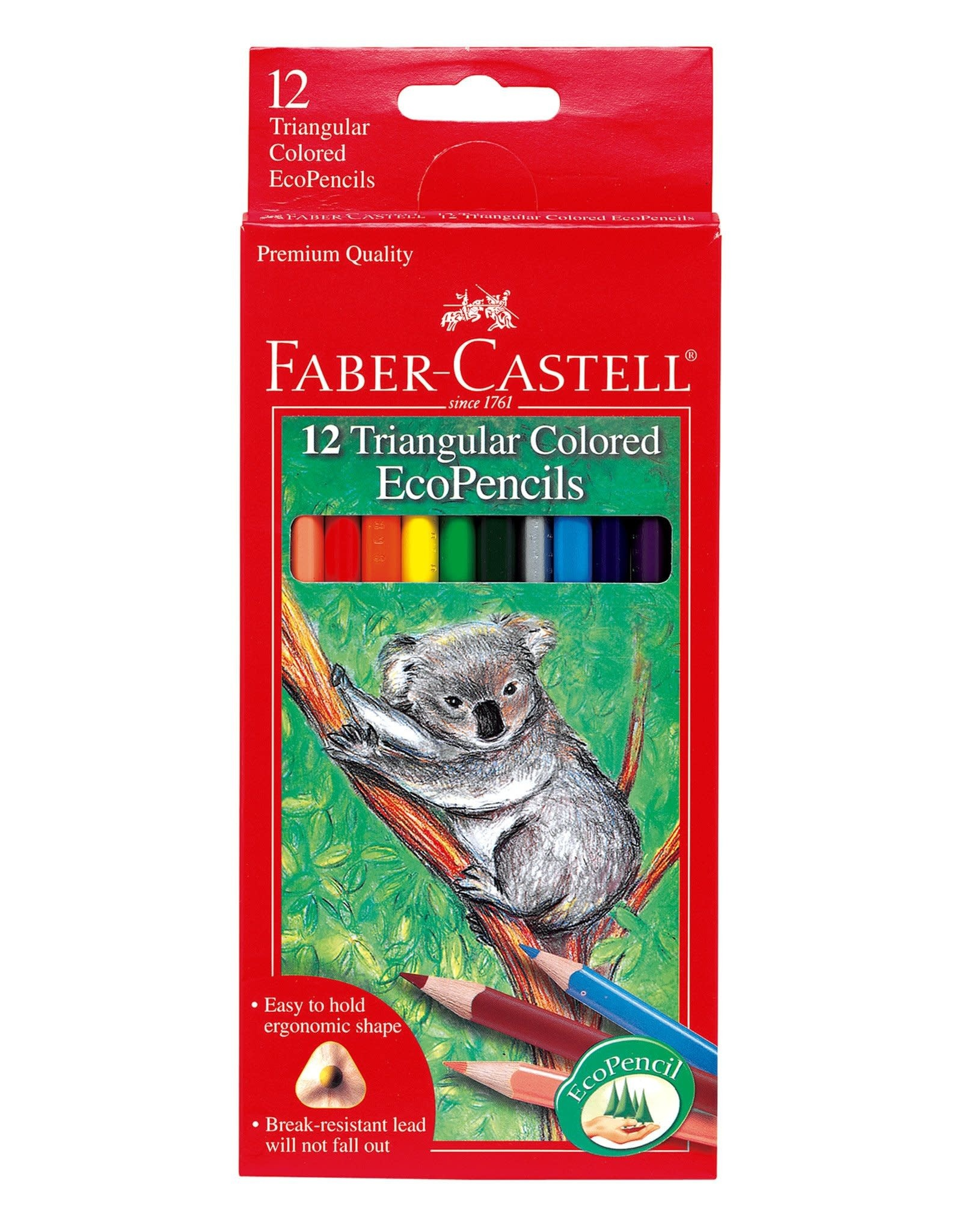 FABER-CASTELL Faber-Castell 12ct Triangular Colored EcoPencils
