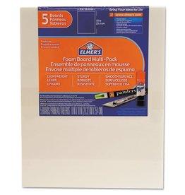 """ELMERS Elmer's 3/16"""" Foam Board, White, 8"""" X 10"""", 5 pk."""