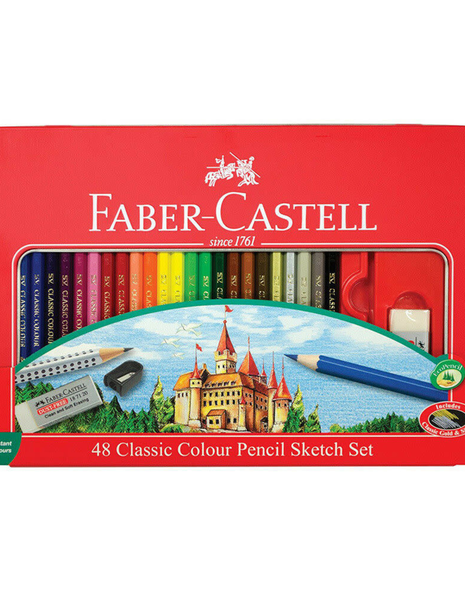 FABER-CASTELL Faber-Castell 48ct Classic Color Pencil & Sketching Tin Set