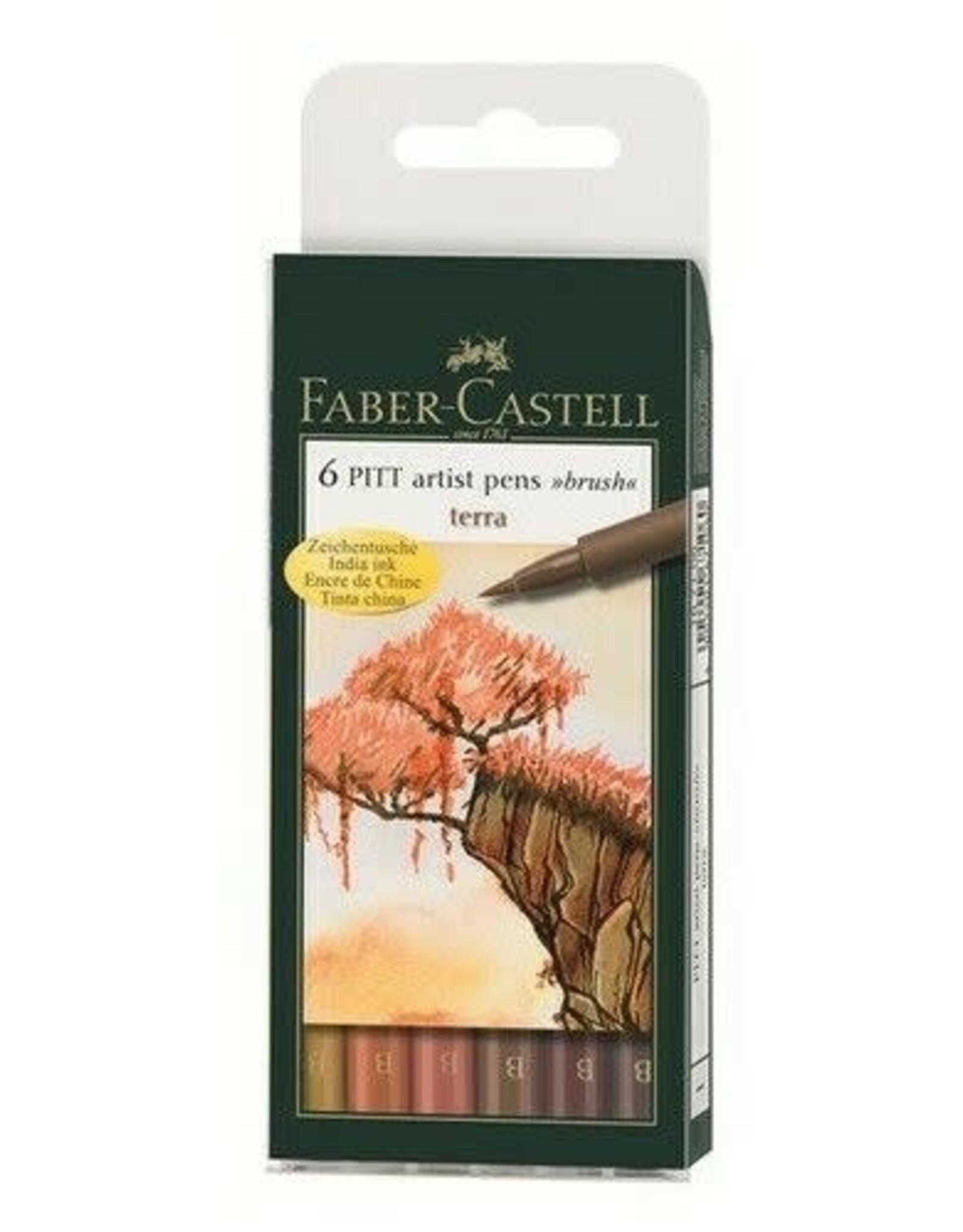 FABER-CASTELL Faber-Castell 6 Terra Color brush pens 184, 186, 189, 180, 169, 177