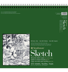 Strathmore Strathmore, 400 Series Sketch Paper Recycled, 14x17 100 Sheets