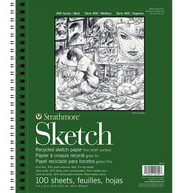 Strathmore Strathmore 400 Recycled Sketch Pad 9x12 100 Sheets