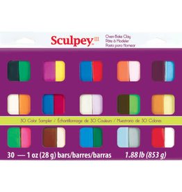 Sculpey Sculpey III Sampler Pack, 30 x 1 oz