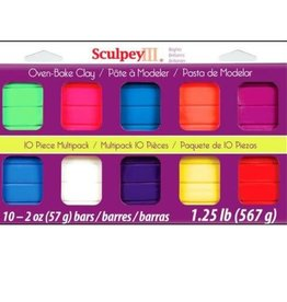 Sculpey Sculpey III Multipack Bright Ideas, 2 oz, 10 pk