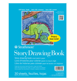 Strathmore Strathmore Kids 100 Series Youth Story Drawing Book 8-1/2 x 11 Inches White 30 Sheets