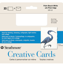 Strathmore Strathmore Creative Cards, Full Size, Palm Beach White 20/Pkg.