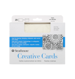 Strathmore Strathmore Creative Cards, Full Size, Ivory with Deckle, 20/Pkg.