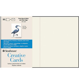 Strathmore Strathmore Creative Cards Palm Beach White 50/Pkg.