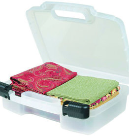 12'' Quick View Carrying Case-DEEP BASE Clear