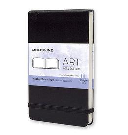 Moleskine Art Plus Watercolor Alb Pocket Plain Black Hc