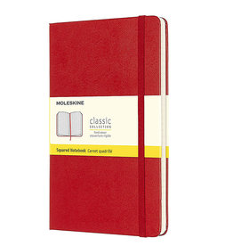Moleskine Classic Notebook Large Square Red Hc