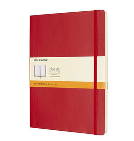 Moleskine Classic Notebook Xl Ruled Scarlet Red Sc