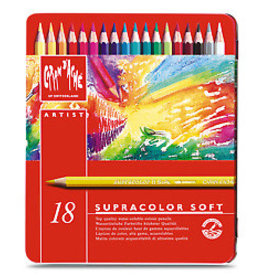 Caran d'Ache Supracolor Metal Box 18 Colour Pencils