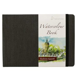 Hahnemuhle Watercolour Book 200gsm Hardbound 5.77x8.19 Landscape, 30 sheets