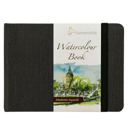 Hahnemuhle Watercolour Book 200gsm Hardbound 4.09x5.77 Landscape, 30 sheets