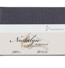 Hahnemuhle Nostalgie Hard Cover Sketch 4.09x5.77 Landscape, 40 sheets
