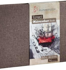 Hahnemuhle Toned Watercolor Books 200gsm A6 Landscape Tan, 30 sheets