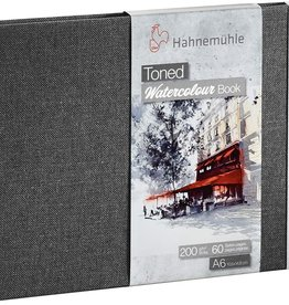 Hahnemuhle Toned Watercolor Books 200gsm A6 Landscape Grey, 30 sheets