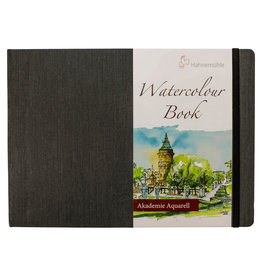 Hahnemuhle Watercolour Book 200gsm Hardbound 8.19x11.58 Landscape, 30 sheets