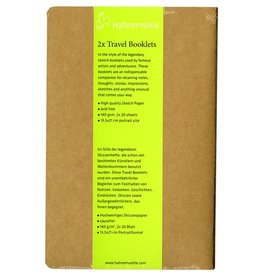 Hahnemuhle Travel Booklet 140gsm 5.31x8.27, 20 sheets 2pk