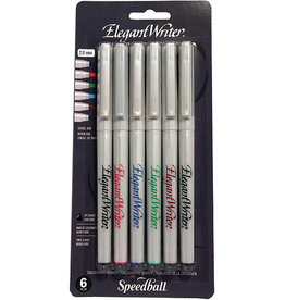 SPEEDBALL ART PRODUCTS Speedball Elegant Writer® 6 Pen Fine, Assorted Colors, Carded