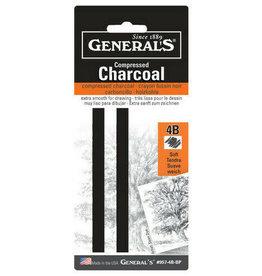 General Pencil General Compressed Charcoal Stick 4B 2/Pk