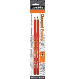 General Pencil General Pencil Charcoal Pencil 4B 2pk